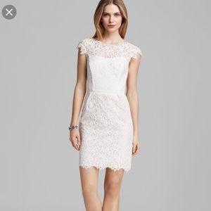 Shoshanna white lace dress size 0